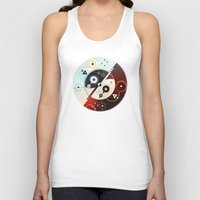 ying yang Tank Tops featuring Ying-Yang Blue Version by Luis Pinto