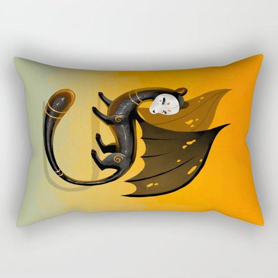 Black Stoat Rectangular Pillow