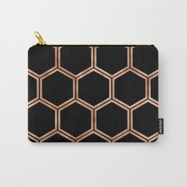 Black onyx copper hexagons Carry-All Pouch