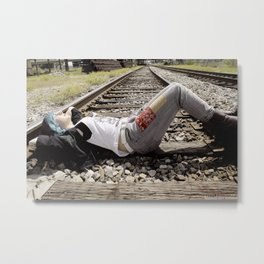 The Railroad Tracks Metal Print