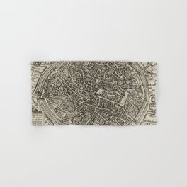 Vintage Map of Bruges Belgium (1612) Hand & Bath Towel