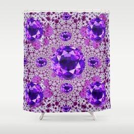 Amethyst Purple Gems February Birthstones Shower Curtain