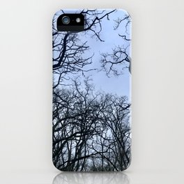 Scary trees iPhone Case