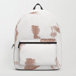 Modern Hand painted rose gold watercolor brushstrokes Backpack