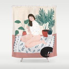 Weekend Vibing Shower Curtain