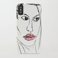 angelina jolie iPhone & iPod Cases featuring ANGELINA JOLIE by JANUARY FROST