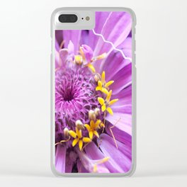 Soft Lilac Zinnia Flower Close-up #1 #decor #art #society6 Clear iPhone Case