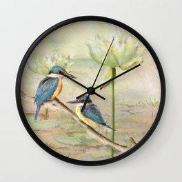Sacred Kingfisher Wall Clock
