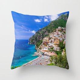 Amalfi Coast Italy Throw Pillow