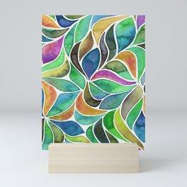 It's a Jungle Out There - Blue Mini Art Print