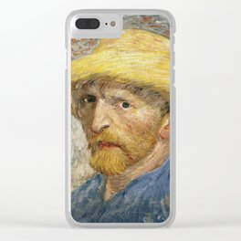 Vincent van Gogh - Self - portrait with Straw Hat Clear iPhone Case
