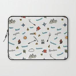 Adventure Pattern | Camping Pattern | Hiking Pattern | Hand Drawn Outdoors Pattern Laptop Sleeve