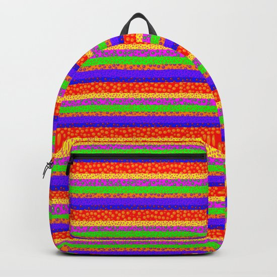 Bubbly Rainbow Striped Pattern Backpack
