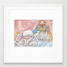 Snort'n Rabbits Framed Art Print