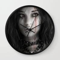 warrior Wall Clocks featuring Warrior by Justin Gedak