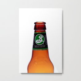 Beer Bottle Metal Print