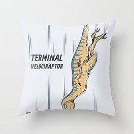 Terminal Velociraptor Throw Pillow