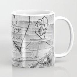 Love Memories in Lover's Lane, Green Gables, black white Coffee Mug