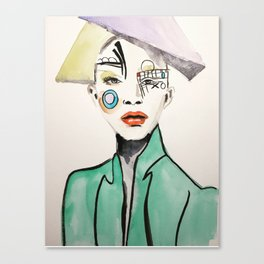 Mondrian's Girl Canvas Print
