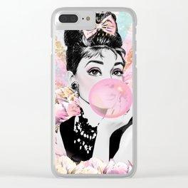 Audrey Hepburn, Pop Princess Clear iPhone Case