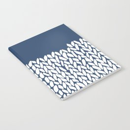 Half Knit Navy Notebook