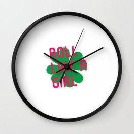 Roll Like a Girl Jiu Jitsu Irish St Patricks Day BJJ Wall Clock