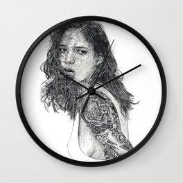 Lust & Tattoos Wall Clock