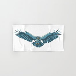 Geometric flying eagle Hand & Bath Towel