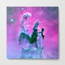 unicorn Pink Purple Teal Pillars of Creation Metal Print