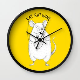 Rat singing UB40 | Animal Karaoke | Illustration | Yellow Wall Clock