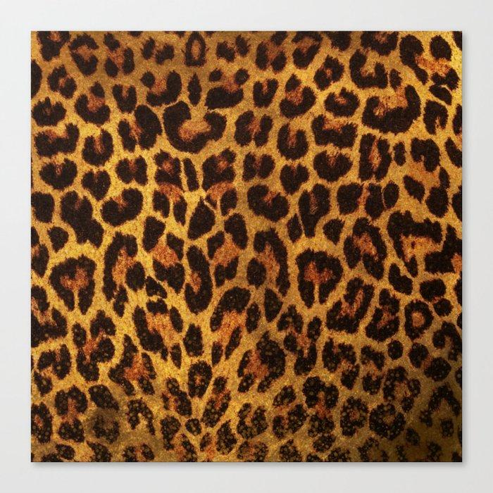 Glitter Leopard Print Canvas Print