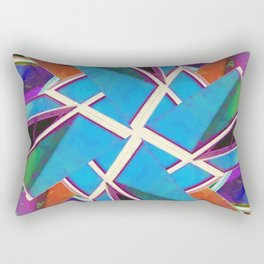 Window Of Opportunity Abstract In Your Face 1 Rectangular Pillow