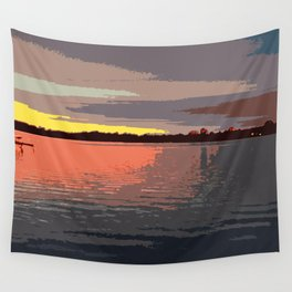 Goodnight, Indian Lake Wall Tapestry