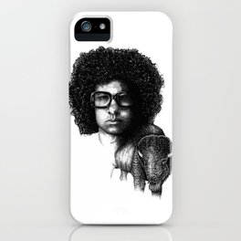Omar Rodriguez Lopez and his bison iPhone Case