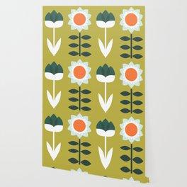 Set Sun Olive Wallpaper