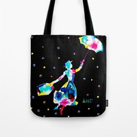 mary poppins Tote Bags featuring Mary Poppins by Armyhu