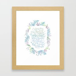 You Are My Hiding Place - Psalm 32:7 Framed Art Print