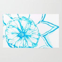 Blue Sunflower Rug