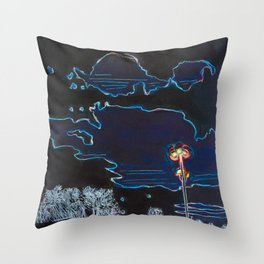 Night Stroll - Dark Mode Throw Pillow