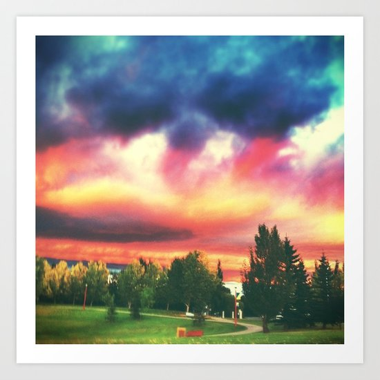 brilliant skies. Art Print