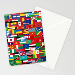all flag Stationery Cards
