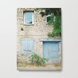 Picturesque house with wooden windows in the Provence Metal Print