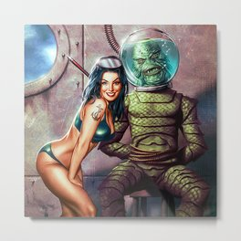The Creature Exposed Metal Print