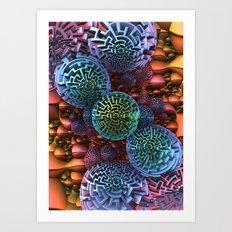 Odd Balls Art Print