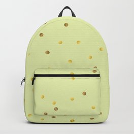 Gold Confetti on Pastel Yellow Backpack