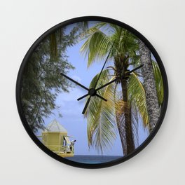 Caribbean lookout Wall Clock