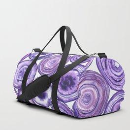 Purple agate pattern Duffle Bag