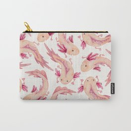 Mexican Axolotls Watercolor Carry-All Pouch