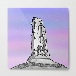 Castle Rock Castleton Tower Metal Print