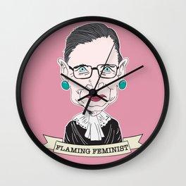 Ruth Bader Ginsburg The Notorious RBG Flaming Feminist Wall Clock